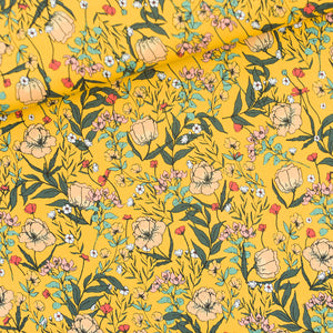 See You At Six - Summer Flowers Yolk Yellow Lycra Swim & Active Wear Fabric