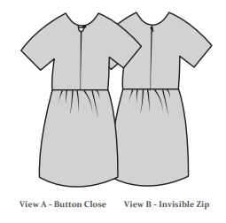 The Avid Seamstress THE GATHERED DRESS Sewing Pattern (Ages 3-8)