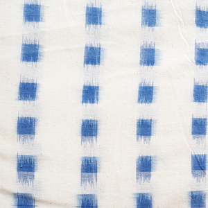 John Louden - Ikat -  Delph on Ivory -Colour Woven Cotton