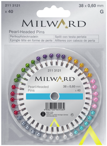 Milward Pearl Head Pins 38x0,60mm x 40 pins