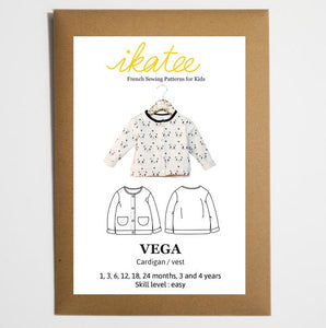 Ikatee - VEGA newborn fleece vest - Baby 1M/4Y- Paper Sewing Pattern