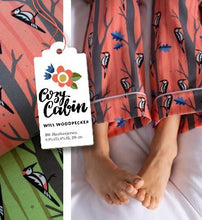Will Woodpecker Green Cotton Jersey from Cosy Cabin