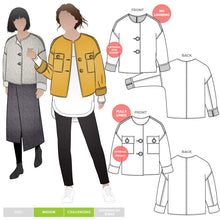 Style ARC - Adelaide Woven Jacket (Sizes 18 - 30)  Sewing Pattern