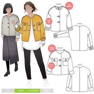 Style ARC - Adelaide Woven Jacket (Sizes 4-16)  Sewing Pattern
