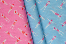At The Beach Blue - Cotton Viscose Blend Dress Fabric