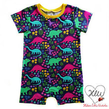 Flower Dinos Organic Cotton Knit Fabric
