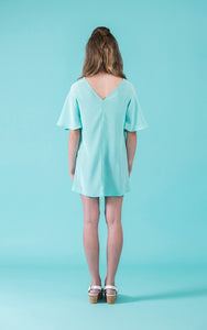 Flutter Tunic Sewing Kit in Moonstone Green Rayon