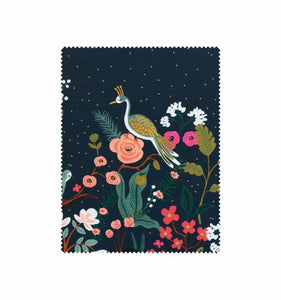 Rifle Paper Co - Growing Garden Navy Cotton Border Print with Metallic Gold