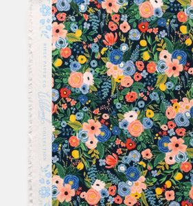 Rifle Paper Co - Petite Garden Party Navy Rayon from Wildwood
