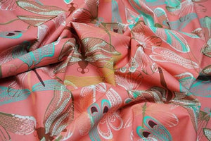 Lady McElroy - Damselfly Pink Cotton Lawn Dress Fabric