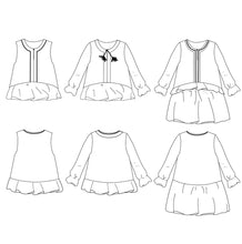 Ikatee - LILAS Trio Blouse - Top - Dress - Ages 3-12  Paper Sewing Pattern