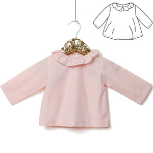 Ikatee - ELECTRE frilled collar Blouse - Baby 1M-4Y- Paper Sewing Pattern