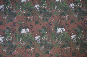 Lady McElroy - Elephant Habitat Cocoa Cotton Lawn