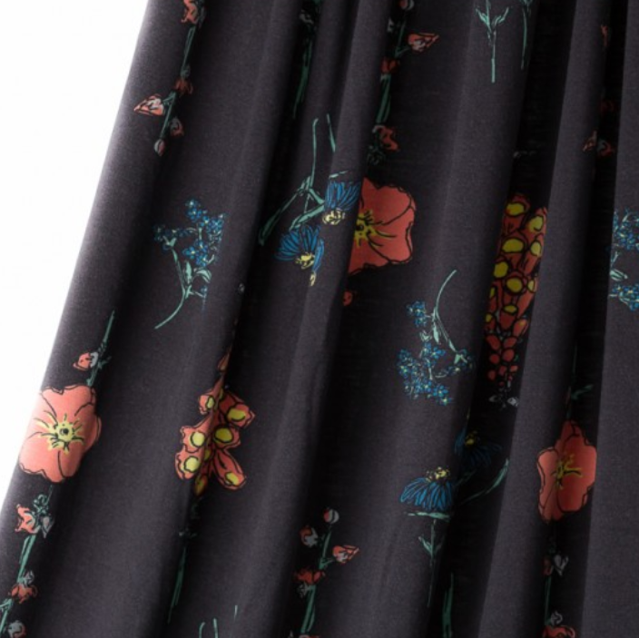 Lillestoff - Floral Rain Modal Single Knit Fabric