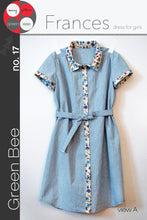Green Bee -  Frances Dress for girls Sewing Pattern 2-10 years old