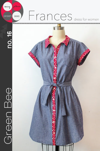 Green Bee -  Frances Dress Sewing Pattern