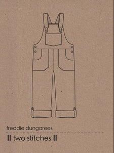 Two Stitches - Freddie Dungarees or Dress Sewing Pattern