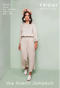 FRIDAY Pattern Co the Avenir Jumpsuit Sewing Pattern