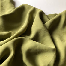 REMNANT 1.90 meters Viscose Jacquard Olive Dress Fabric