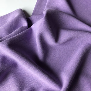 Flow Lilac Viscose Linen Blend Dress Fabric
