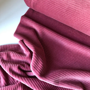 Danish Design - Pink Rose Ribbed Velvet Jersey