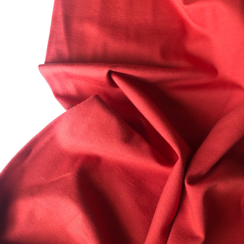 REMNANT 0.59 meter Essential Chic Burnt Orange Cotton Jersey Fabric