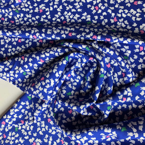 Mopsey Fun - Deep Ocean Viscose Dress Fabric