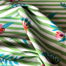 At The Beach - Striped Green Cotton Jersey