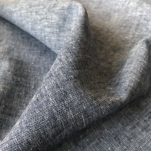 Dark Navy / White Yarn Dyed Linen Cotton Fabric