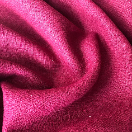 Lady McElroy Antique Washed Linen Claret