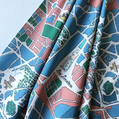 On Vacation Cotton Lawn Dress Fabric