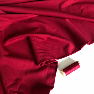 REMNANT 2.24 meters Ruby Red Viscose Modal Ponte Roma Knit Fabric
