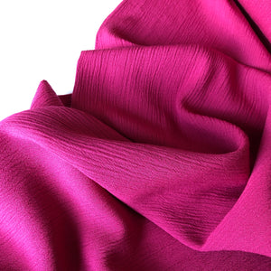 Crinkled Viscose Pink Dress Fabric