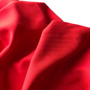 Grandeur Red Modal Bamboo Tencel Twill Dress Fabric