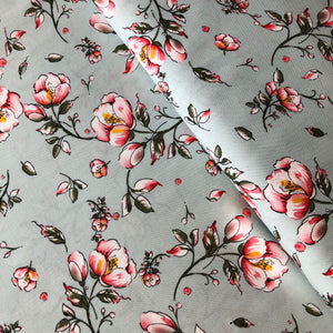 REMNANT 1 meter English Rose Viscose Dress Fabric