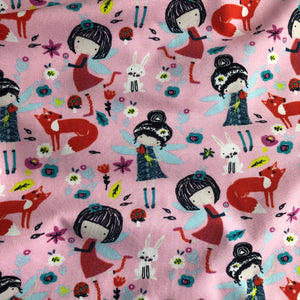 REMNANT 1.03 meter Fairy Fantasy Cotton Jersey