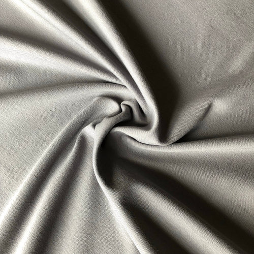 REMNANT 1.50 meters Essential Grey Plain Cotton Spandex Jersey Fabric