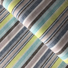 Beach Stripes Lime Linen Cotton Blend Dress Fabric