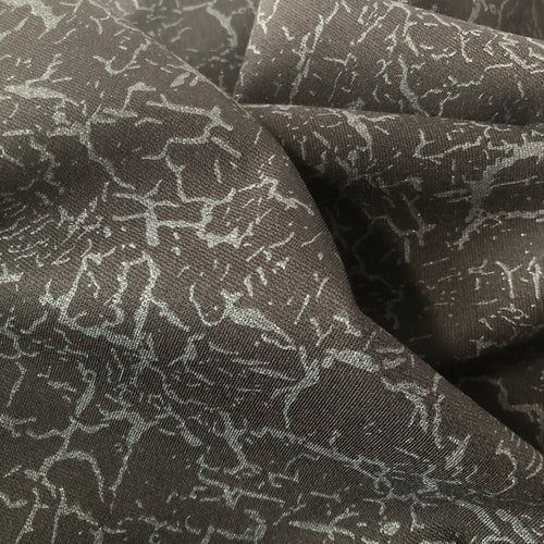 Glamour Silver Viscose Ponte Roma Double Knit Fabric