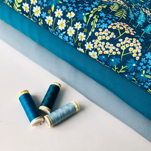 Art Gallery Fabrics - Blue Bank Flora Rayon / Viscose from Catch and Release
