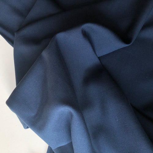 Grandeur Navy Modal Bamboo Twill Dress Fabric