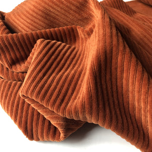 Danish Design - Rust Ribbed Velvet Jersey