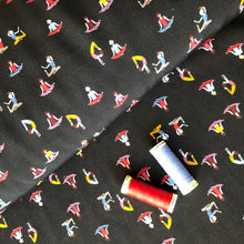 Yoga Black Viscose Fabric