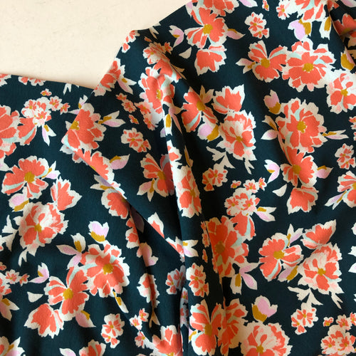 Bright Blooms Cotton Jersey