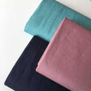 Breeze Teal - Enzyme Washed Pure Linen Fabric