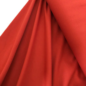 REMNANT 0.47 meter Burnt Orange Viscose Ponte Roma Double Knit Fabric
