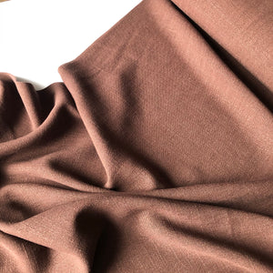 Flow Brown Viscose Linen Blend Dress Fabric