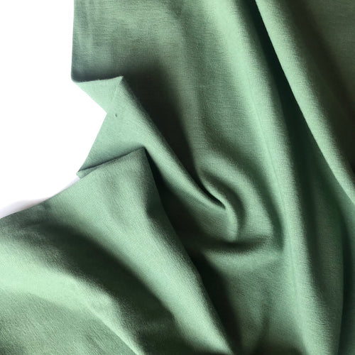 Essential Chic Avocado Plain Cotton Jersey Fabric