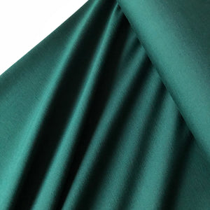 REMNANT 1.82 meters Forest Green Viscose Ponte Roma Double Knit Fabric
