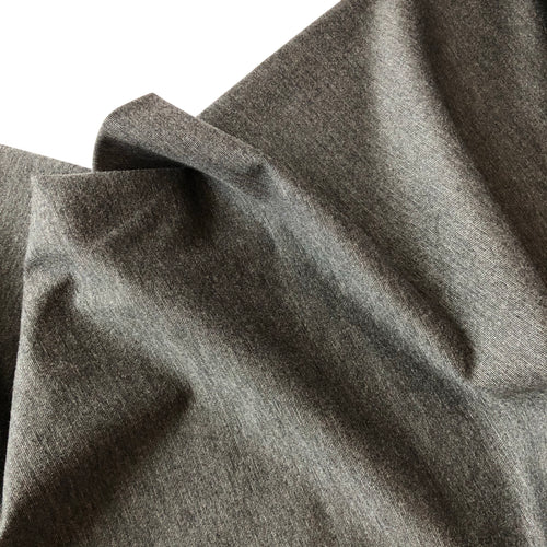 Grey Melange Viscose Ponte Roma Double Knit Fabric